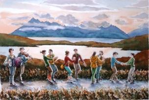 Skye Road Dance (watercolour)