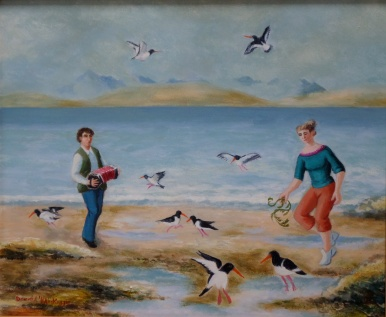 Dancing with Oystercatchers